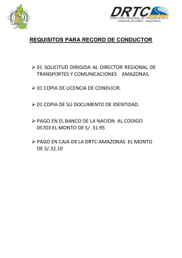 requisitos para record de conductor 01 solicitud dirigida al director