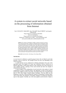 A system to extract social networks based on the