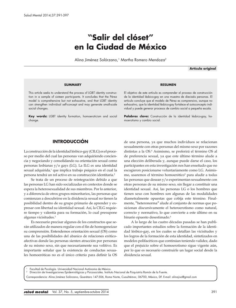 """Salir del clóset"""" en la Ciudad de México"""