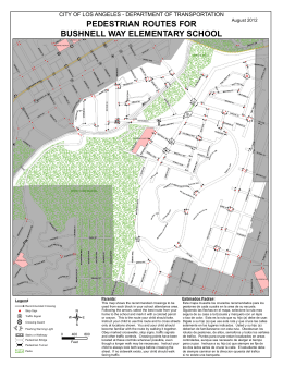 bushnell way elementary school pedestrian routes for