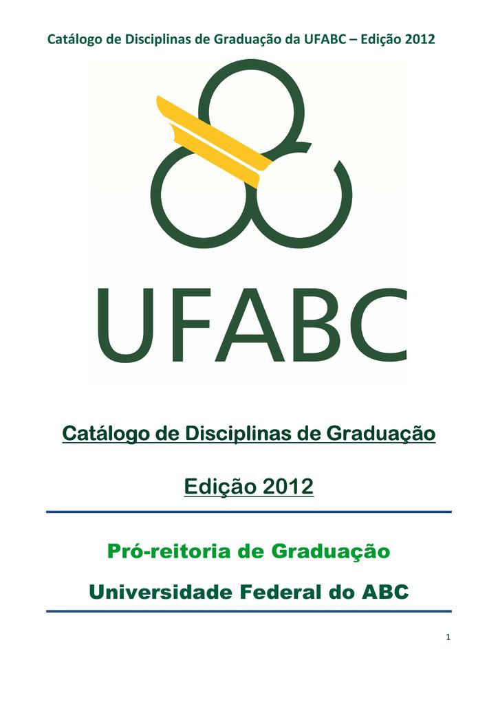 Ementas das disciplinas da ufabc 2012 fandeluxe Choice Image