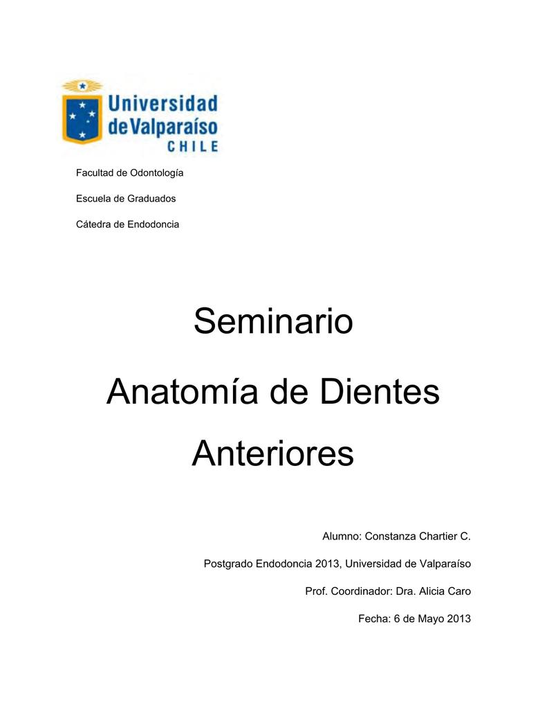 Seminario Anatomia de dientes anteriores