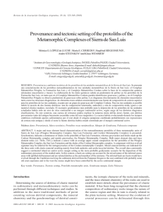 Provenance and tectonic setting of the protoliths of the