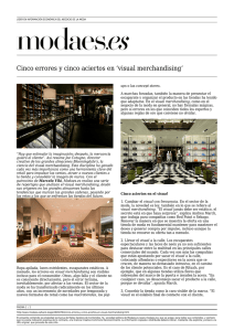 Cinco errores y cinco aciertos en `visual merchandising`