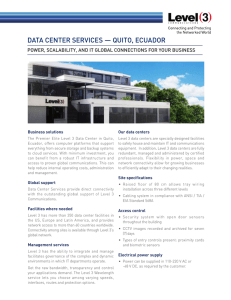 DATA CENTER SERVICES — QUITO, ECUADOR