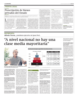 A nivel nacional no hay una clase media mayoritaria