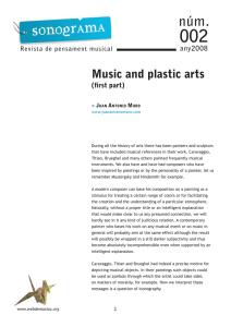 Music and plastic arts