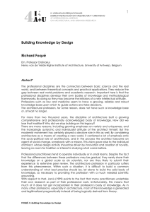 Building Knowledge by Design Richard Foqué