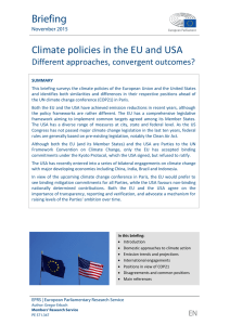 Climate policies in the EU and USA - European Parliament