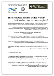 The Great War and the Wider World/ La Gran Guerra en un contexto