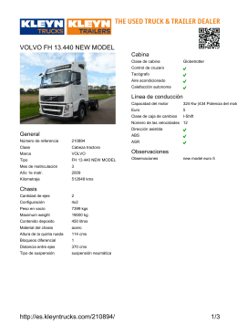 http://es.kleyntrucks.com/210894/ 1/3 VOLVO FH 13.440 NEW MODEL