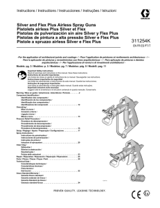 311254K, Silver and Flex Plus Airless Spray Guns, Instructions