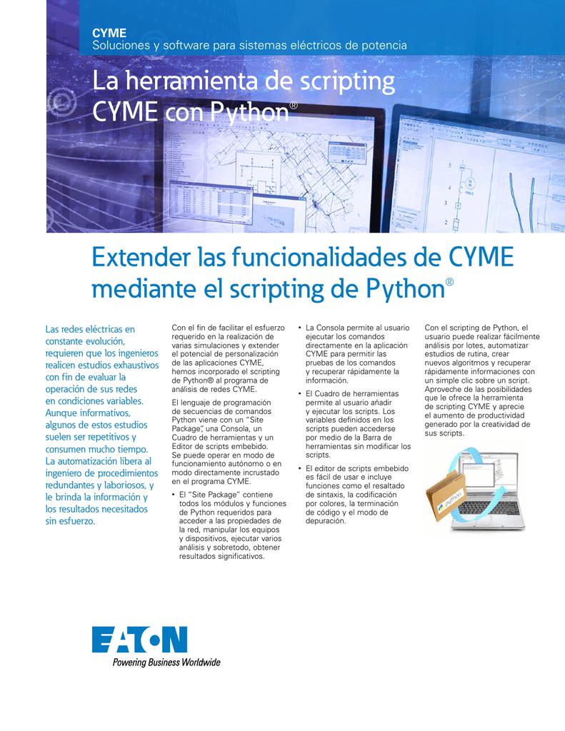 Extender Las Funcionalidades De Cyme Mediante El Scripting De
