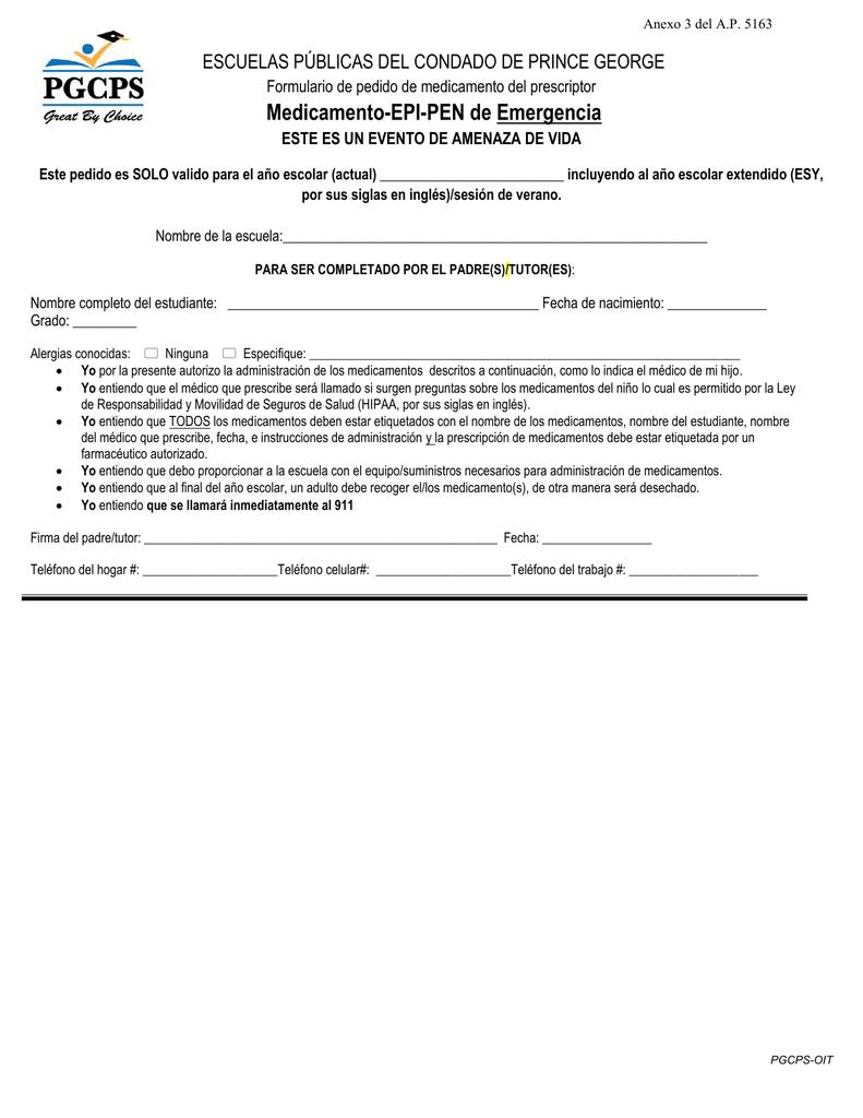 Medicamento-EPI-PEN de Emergencia