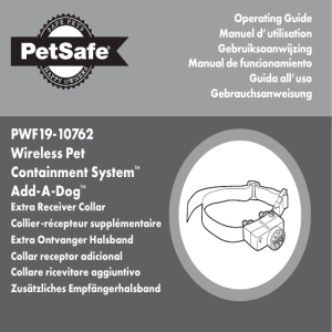 PWF19-10762 Wireless Pet Containment System™ Add-A-Dog™
