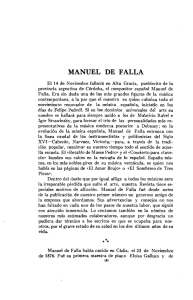 manuel de falla - Revista Musical Chilena