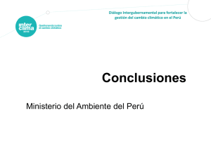 Conclusiones - InterCLIMA