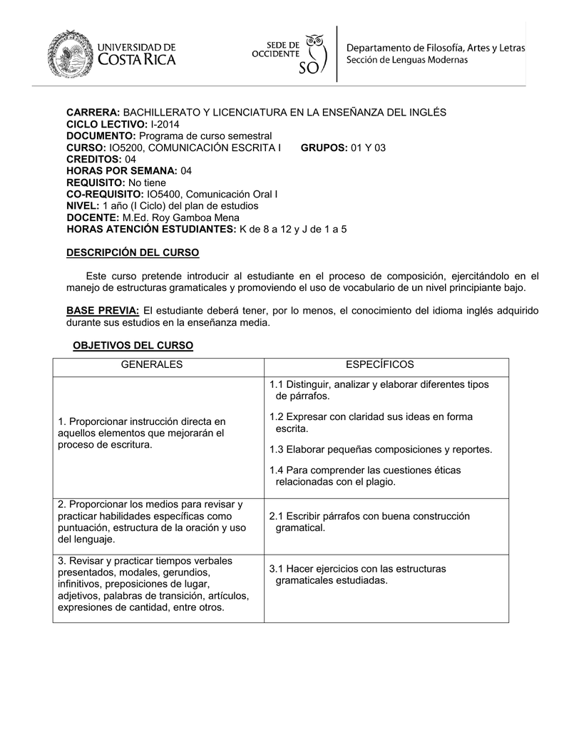 I 2014 Documento Programa De Curso Semestral C