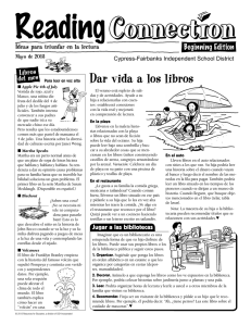 Dar vida a los libros - Cypress-Fairbanks Independent School District