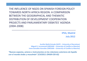 THE INFLUENCE OF NGOS ON SPANISH FOREIGN POLICY