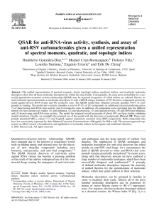 QSAR for anti-RNA-virus activity, synthesis, and assay of anti