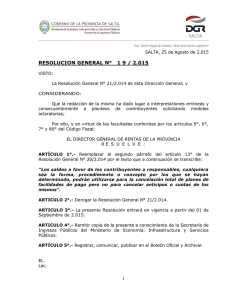resolucion general n° 1 9 / 2.015