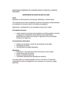 SUPERVISOR DE EVENTOS (SUP-EV-AQP)
