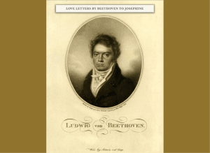LOVE LETTERS BY BEETHOVEN TO JOSEPHINE