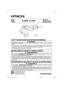 G 10SS • G 12SS - Hitachi Power Tools