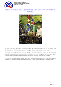 Cuban President Raul Castro Holds Talks with Prime Minister of