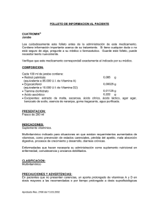 FOLLETO DE INFORMACION AL PACIENTE