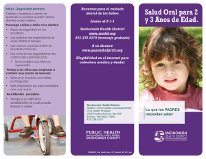 Oral Health Age Two to Three Years-Spanish