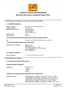 (II) cloruro, Analytical Grade, ACS