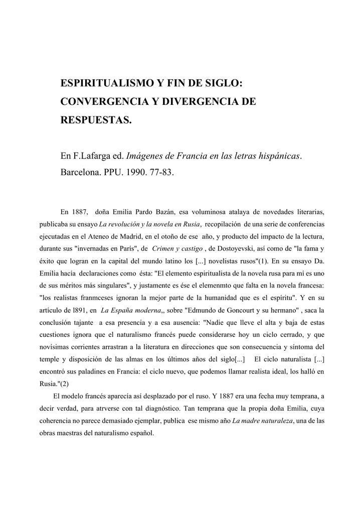 309ca75a1f espiritualismo y fin de siglo: convergencia y divergencia