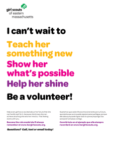I can`t wait to Be a volunteer! Teach her something new Show her