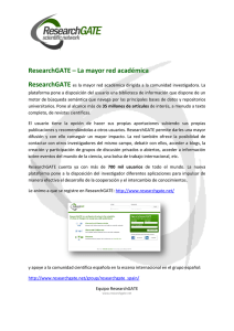 ResearchGATE – La mayor red académica