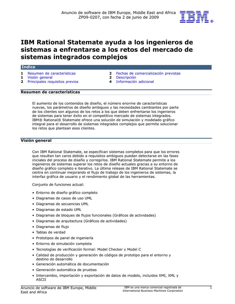 IBM Rational Statemate ayuda a los ingenieros de sistemas a