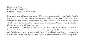 POESIAS COMPLETAS, Editorial Castalia, Madrid, 1998. Estamos