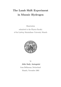 The Lamb Shift Experiment in Muonic Hydrogen