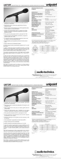 U873R Especificaciones - Audio
