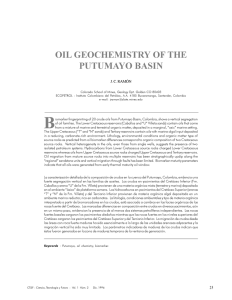 oil geochemistry of the putumayo basin