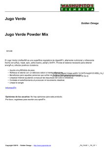 Jugo Verde Powder Mix
