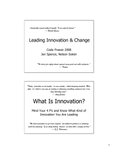 Leading Innovation and Change Final