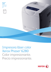 Impresora láser color Xerox Phaser® 6280 Color impresionante