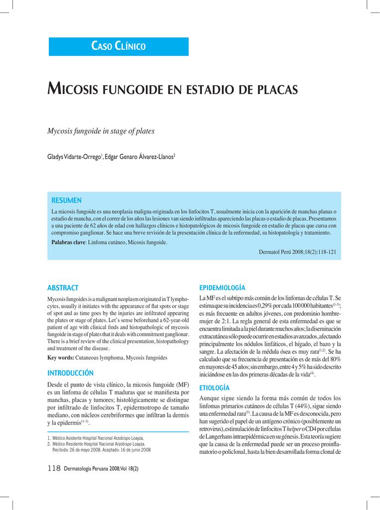 micosis fungoide hipopigmentada