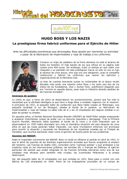 hugo boss y los nazis - Historia Virtual del Holocausto
