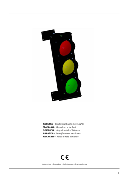Traffic light with three lights ITALIANO - Semaforo a tre