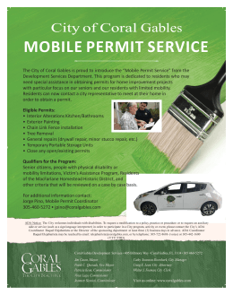 mobile permit service - City of Coral Gables