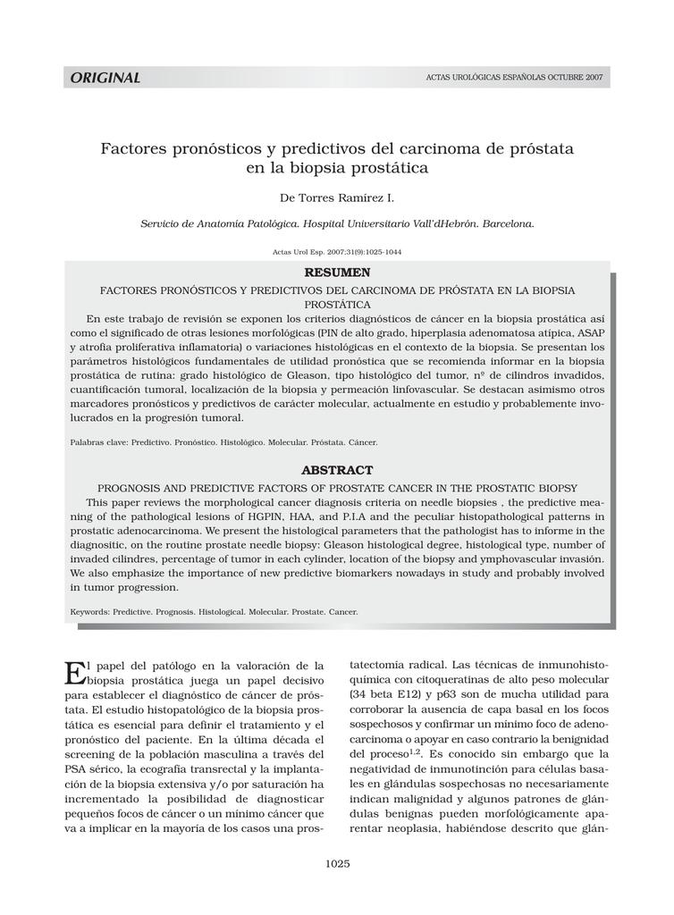 adelecarcinoma de próstata de tipo acinar de grado 3 3 de gleason 5