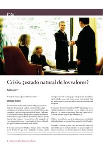 Crisis: ¿estado natural de los valores?